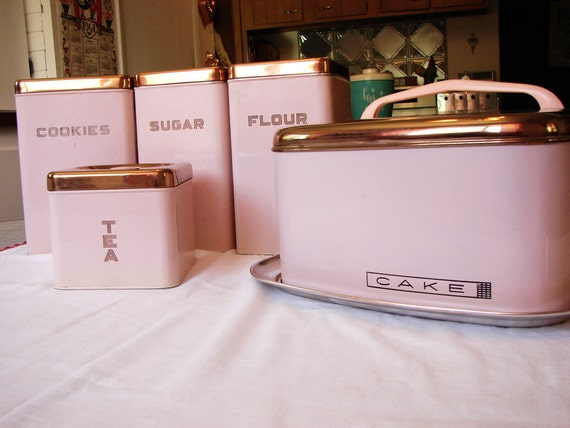 pink canisters kitchen pink lincoln beautyware canister set and cake carrier 14554