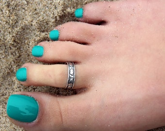 Vintage look sterling silver toe ring elephant design toe ring adjustable toe ring Also knuckle ring (T- 42)