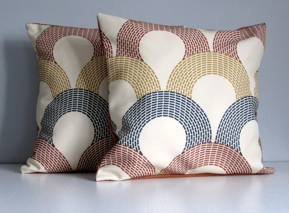 Modern Retro Pillows : Modern Retro Fish Scale Pillows Set of Two Classic
