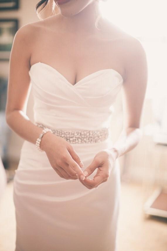 Bridal Elegance Couture Rhinestone Wedding Gown Sash Belt Treasury Item