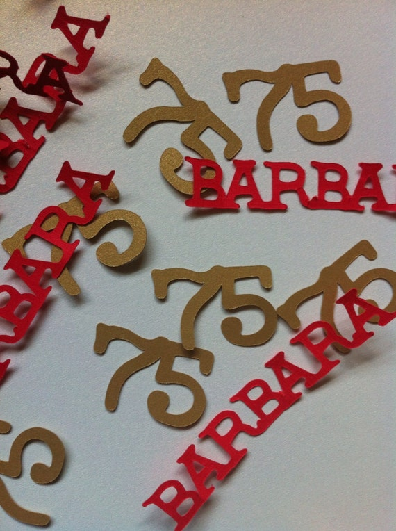 75th birthday decorations personalized table confetti by for 75th birthday decoration ideas