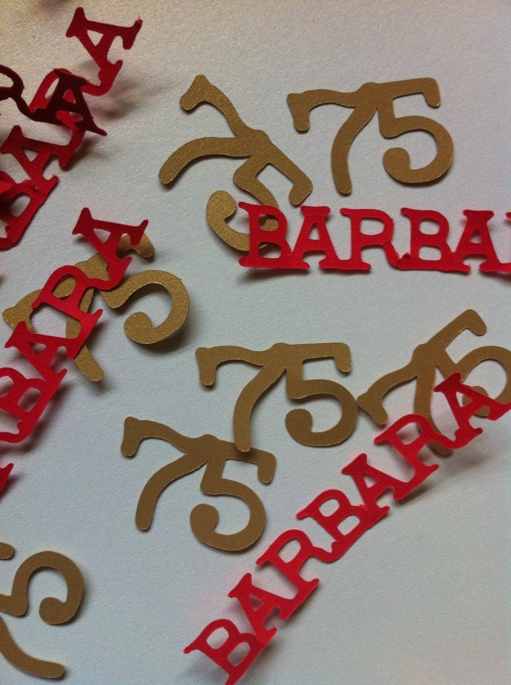 75th birthday decorations personalized table confetti for 75th birthday decoration