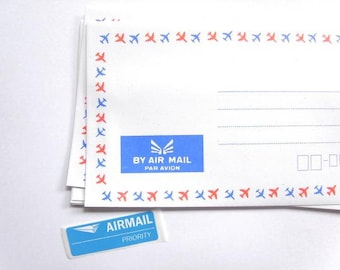 Set of 25 par avion airmail envelopes | Vintage air mail envelopes.