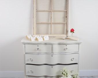 Claw Foot Serpentine Dresser/4 Drawer Bureau/Buffet/Server/Wedding Reception