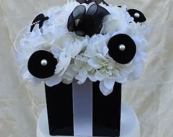 Silk Floral Gift Box Centerpiece for Wedding Bridal Shower Sweet 16 Custom Made