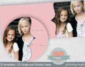 Circles Scalloped CD and CD cases (single and double), psd templates, photographer templates, whcc templates