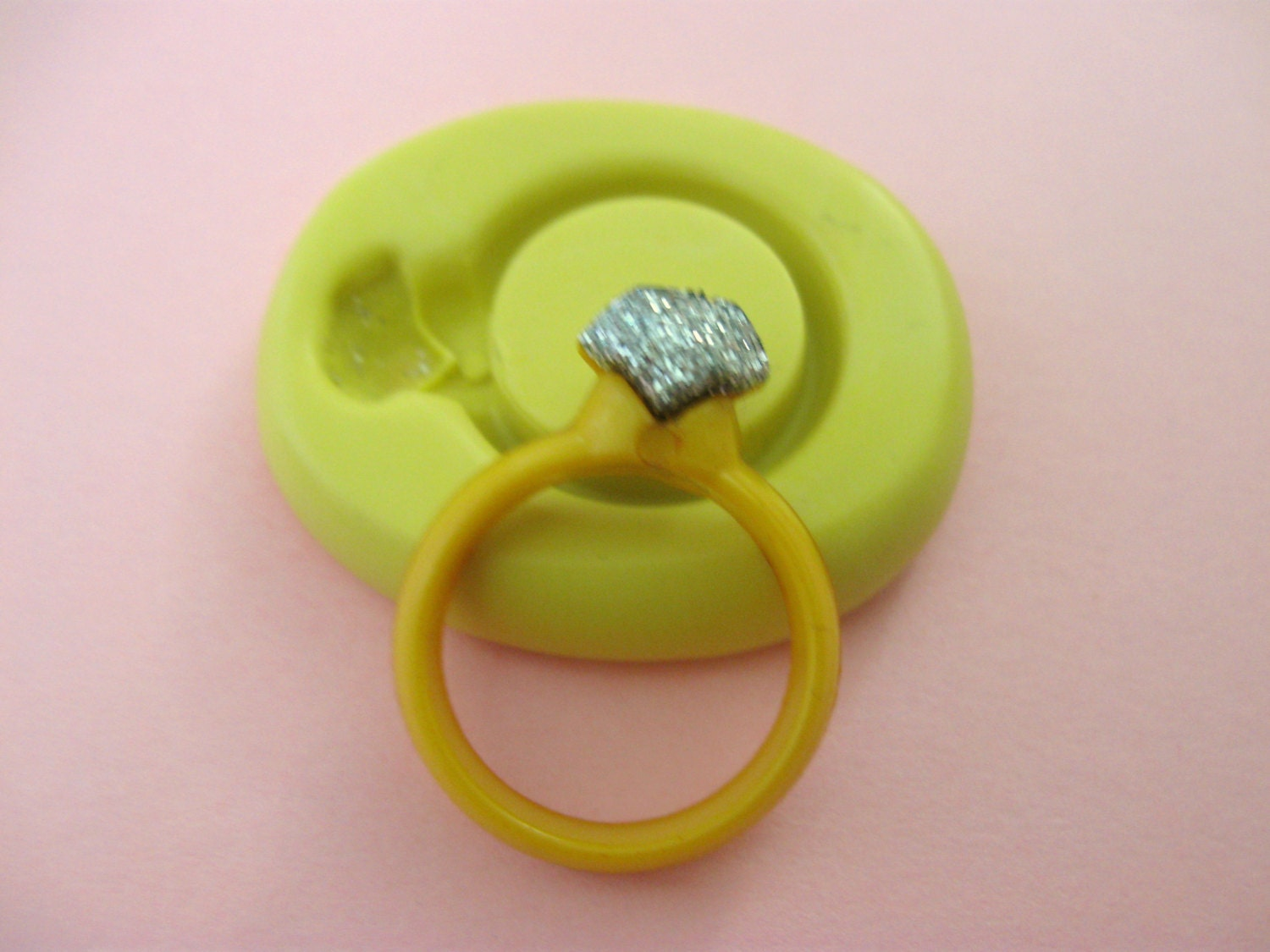 Silicone Ring With Diamond >> Diamond Wedding Ring Flexible Silicone Polymer Clay Soap