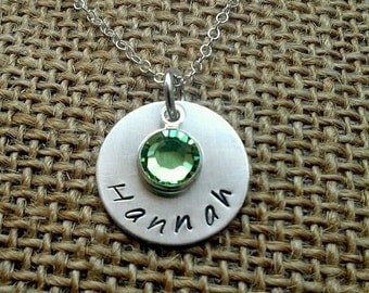 Mom Necklace - Personalized Name Necklace - Grandma Necklace - Stamped Evermore