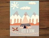 "Rise & Shine Poster Print (11""x14"") - FrenchPressMornings"