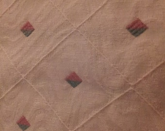 Ethan Allen Ivory Diamond Pattern Upholstery Fabric