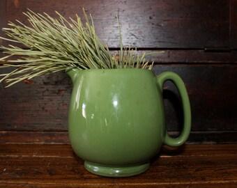 Pottery Creamer Pitcher Jug Crockery Green