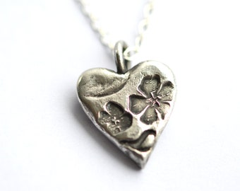 Made to Order Floral Heart Pendant