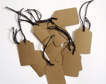 gift tags, string tags, card stock  natural kraft, pricing tags, wedding, wine glass or bottle tags