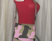 Camouflage Small Messenger Style Bag with Interior Pockets