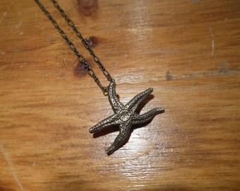 Bronze Starfish necklace - Small Starfish Necklace - Starfish Necklace - Beach Necklace