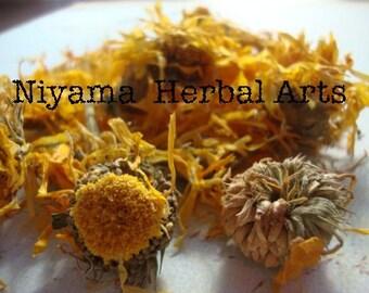 Calendula, Calendula Officinalis, Dried Herbs, Organic - 1 oz