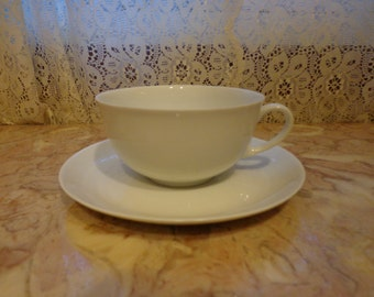 HOLIDAY white cup and saucer made in Germany