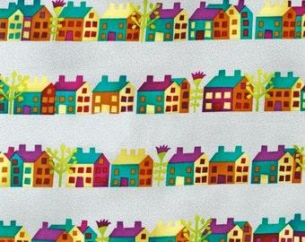 Houses : Garden Flokloric Blooms by Sue Spargo & Wendy Morris 1 Yard Cut