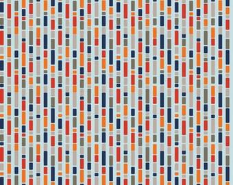 Boys Stripe Blue: One For The Boys By Zoe Pearn for Riley Blake 1 Yard Cut