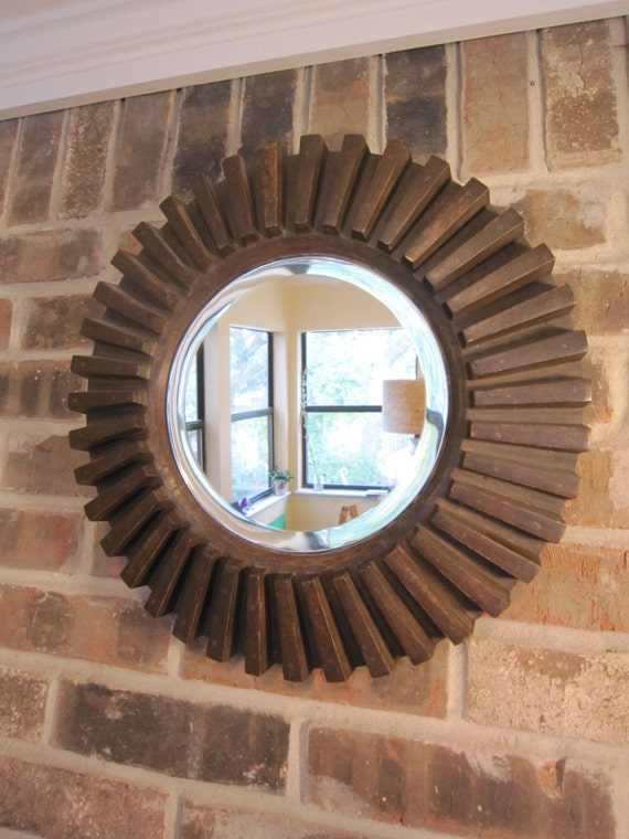 Reclaimed Wood Mirror Round Gear Mirror Sunburst Mirror