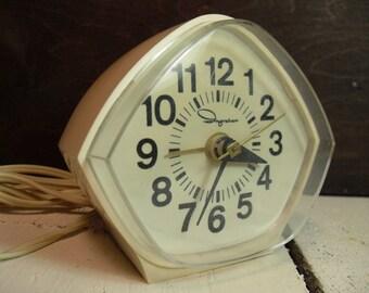Ingraham, Vintage Mid Century Modern Electric Alarm Clock, Vintage Clock, Retro Clock, Alarm Clock Retro