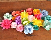 Paper Flowers Wedding Centerpiece, table decor, colorful wedding centerpiece