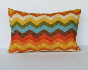 Decorative pillow 12x18' accent lumbar Pillow with zig-zag stripe throw pillow pillow cover