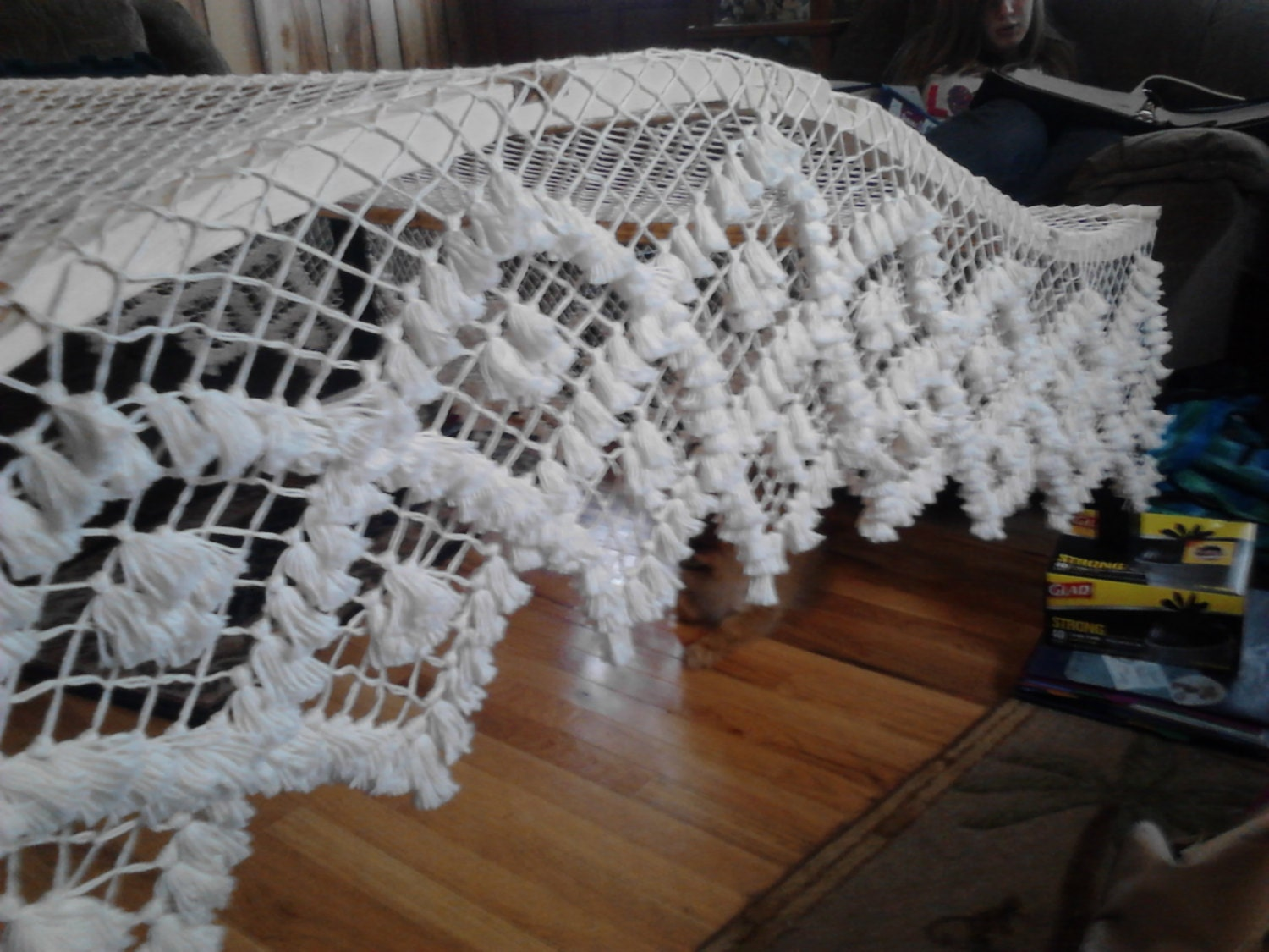 Handmade Fishnet Bed Canopy Queen Sized Arch Frame Double