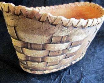 Woven Basket from Birch bark.