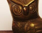 Beautiful Vintage Brass Owl