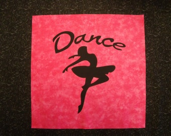 DANCE BALLERINA Quilt KIT with Pre-cut Fabric Die Cut Applique silhouettes