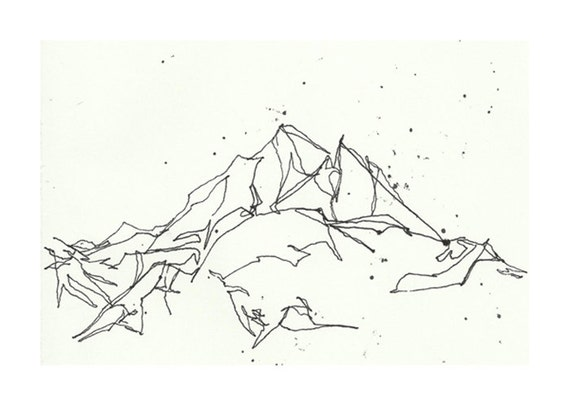 Line Art Mountains : Unavailable listing on etsy