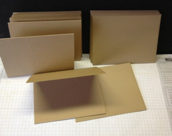 Kraft  cardstock and matching A2 envelopes lot of 12 ea