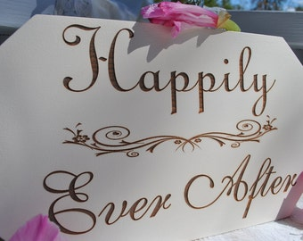 Wedding Sign Happily Ever After Wedding Décor