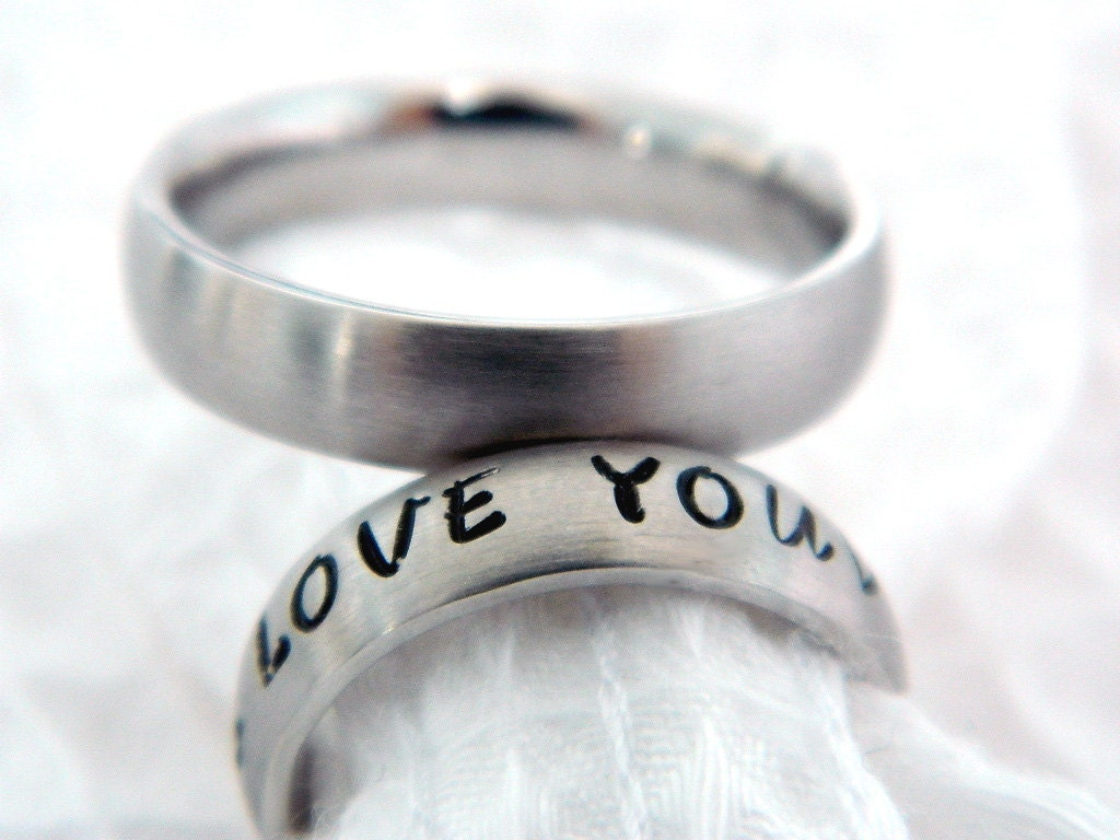 name ring personalized ring hand stamped by. Black Bedroom Furniture Sets. Home Design Ideas