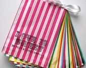 50 multi color 'Love is Sweet, So enjoy a little treat...'wedding candy buffet bags/sweetie - Contact me for other quantities