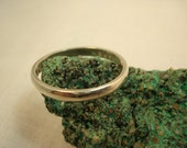 Vintage Sterling Silver Smooth Ring, Stacking Mens Womens Size 11, Solid Silver Wedding Engagement Cocktail Band