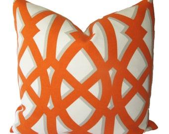Decorative Designer Geometric Indoor Outdoor, Lattice, 18x18, 20x20, 22x22, or Lumbar, Trellis Throw Pillow