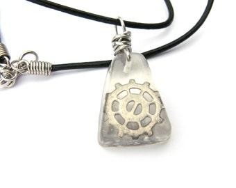 Steampunk Gear Resin Pendant - metal gear encased in resin - Steampunk Necklace - Resin Necklace - Resin Jewelry - Gear Pendant