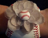 Baseball Cuff Bracelet -Adorable with added Feminine Flair