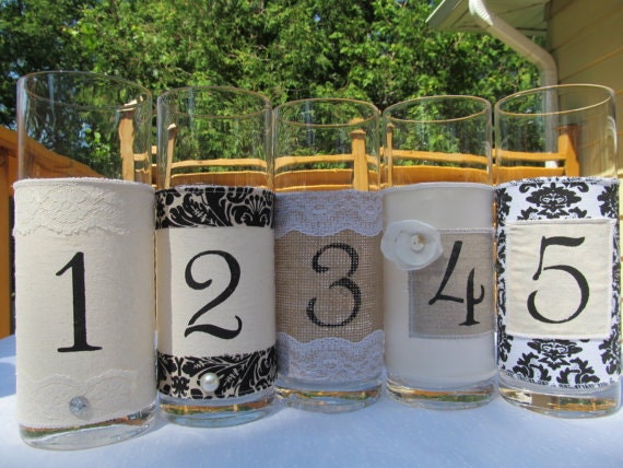 Reserved listing for Ashely B. - 16 Ivory satin/lace fabric numbers with flower