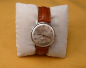 "Swiss ULTRA rare ""NACAR""  gold plated wrist watch   1940-1960 Super Flat  PERFECT condition Like New"