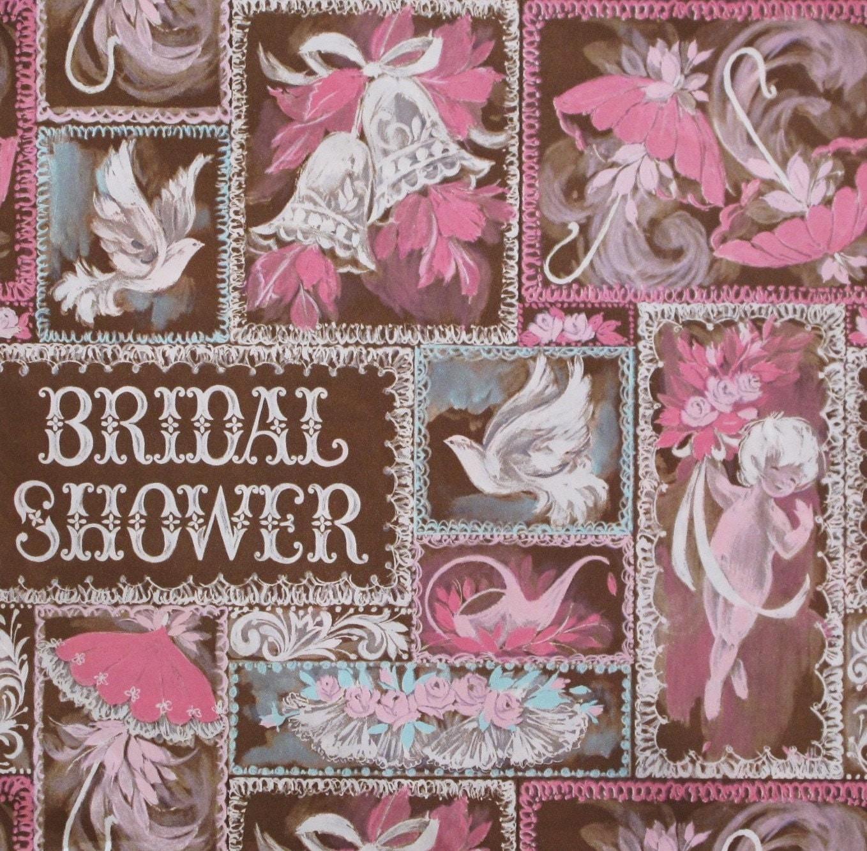 Wedding Gift Wrap Etiquette: Vintage Hallmark BRIDAL SHOWER Gift Wrap Wrapping Paper