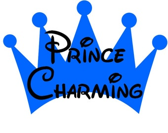 Custom Personalized Prince Charming Iron on Transfer Decal(iron on transfer, not digital download)