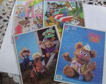 Vintage Puzzles Pound Puppies, Looney Tunes, Muppets & Cabbage Patch