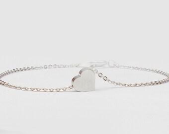 Mini Silver Heart Bracelet
