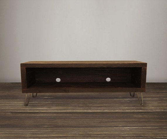 Reclaimed Wood Media Console Tv Stand 56 By Atlaswoodco