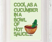 Cool As A Cucumber Poster A3, Beastie Boys, Music Poster, Typographic Poster, Band Lyrics