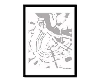 Poster Amsterdam Grey&White