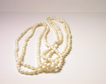 Two Separate Strand Pearl Necklace